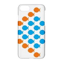 Fish Arrow Orange Blue Apple Iphone 7 Hardshell Case by Alisyart