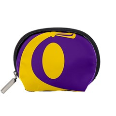 Flag Purple Yellow Circle Accessory Pouches (small)  by Alisyart