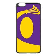 Flag Purple Yellow Circle Apple Iphone 6 Plus/6s Plus Black Enamel Case by Alisyart