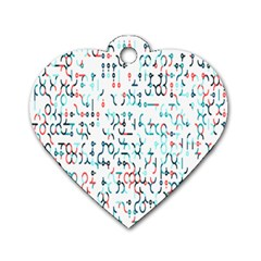Connect Dots Color Rainbow Blue Red Circle Line Dog Tag Heart (one Side) by Alisyart