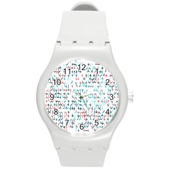Connect Dots Color Rainbow Blue Red Circle Line Round Plastic Sport Watch (m) by Alisyart