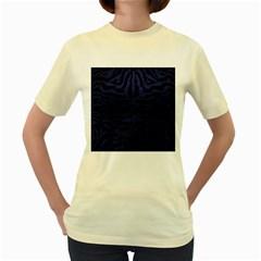 SKN2 BK-MRBL BL-LTHR Women s Yellow T-Shirt
