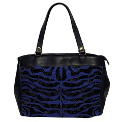 Skin2 Black Marble & Blue Leather Oversize Office Handbag (2 Sides) by trendistuff