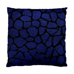 Skin1 Black Marble & Blue Leather Standard Cushion Case (one Side) by trendistuff