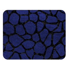 Skin1 Black Marble & Blue Leather Double Sided Flano Blanket (large) by trendistuff