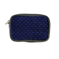 Scales2 Black Marble & Blue Leather (r) Coin Purse by trendistuff