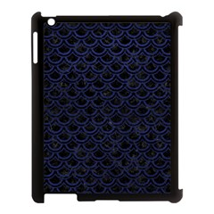 Scales2 Black Marble & Blue Leather Apple Ipad 3/4 Case (black) by trendistuff