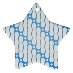 Batik Pattern Star Ornament (two Sides) by Simbadda