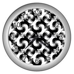 Birds Flock Together Wall Clocks (silver)  by Simbadda