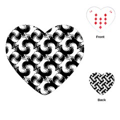 Birds Flock Together Playing Cards (heart)  by Simbadda