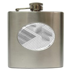 Design Grafis Pattern Hip Flask (6 Oz) by Simbadda