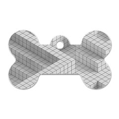 Design Grafis Pattern Dog Tag Bone (Two Sides)