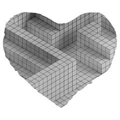 Design Grafis Pattern Large 19  Premium Flano Heart Shape Cushions by Simbadda