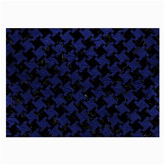 Houndstooth2 Black Marble & Blue Leather Large Glasses Cloth by trendistuff