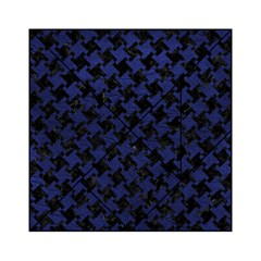 Houndstooth2 Black Marble & Blue Leather Acrylic Tangram Puzzle (6  X 6 ) by trendistuff