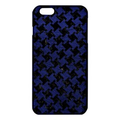 Houndstooth2 Black Marble & Blue Leather Iphone 6 Plus/6s Plus Tpu Case by trendistuff