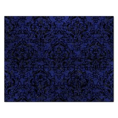 Damask1 Black Marble & Blue Leather (r) Jigsaw Puzzle (rectangular) by trendistuff