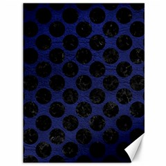 Circles2 Black Marble & Blue Leather (r) Canvas 36  X 48  by trendistuff