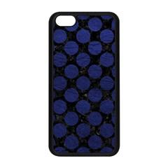 Circles2 Black Marble & Blue Leather Apple Iphone 5c Seamless Case (black) by trendistuff