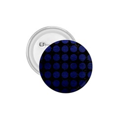 Circles1 Black Marble & Blue Leather 1 75  Button by trendistuff