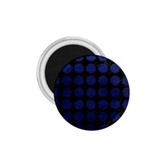 Circles1 Black Marble & Blue Leather 1 75  Magnet by trendistuff