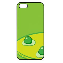 Food Egg Minimalist Yellow Green Apple Iphone 5 Seamless Case (black) by Alisyart