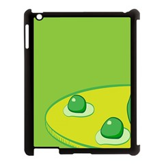 Food Egg Minimalist Yellow Green Apple Ipad 3/4 Case (black) by Alisyart
