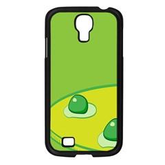 Food Egg Minimalist Yellow Green Samsung Galaxy S4 I9500/ I9505 Case (black) by Alisyart