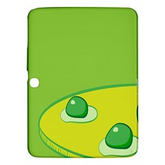 Food Egg Minimalist Yellow Green Samsung Galaxy Tab 3 (10 1 ) P5200 Hardshell Case  by Alisyart