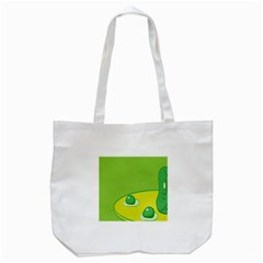 Food Egg Minimalist Yellow Green Tote Bag (white) by Alisyart