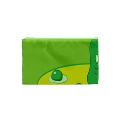 Food Egg Minimalist Yellow Green Cosmetic Bag (xs) by Alisyart