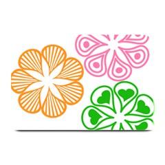 Flower Floral Love Valentine Star Pink Orange Green Plate Mats by Alisyart