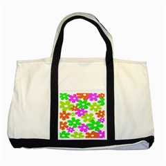 Flowers Floral Sunflower Rainbow Color Pink Orange Green Yellow Two Tone Tote Bag by Alisyart