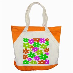 Flowers Floral Sunflower Rainbow Color Pink Orange Green Yellow Accent Tote Bag by Alisyart