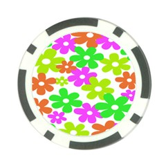 Flowers Floral Sunflower Rainbow Color Pink Orange Green Yellow Poker Chip Card Guard (10 Pack) by Alisyart
