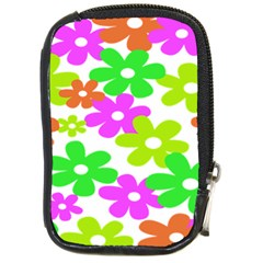 Flowers Floral Sunflower Rainbow Color Pink Orange Green Yellow Compact Camera Cases by Alisyart