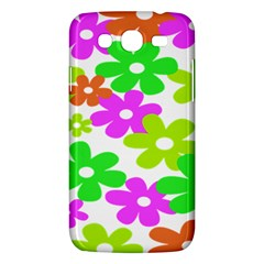 Flowers Floral Sunflower Rainbow Color Pink Orange Green Yellow Samsung Galaxy Mega 5 8 I9152 Hardshell Case  by Alisyart