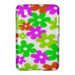 Flowers Floral Sunflower Rainbow Color Pink Orange Green Yellow Samsung Galaxy Tab 2 (7 ) P3100 Hardshell Case  by Alisyart