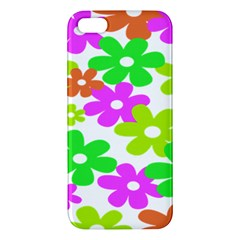 Flowers Floral Sunflower Rainbow Color Pink Orange Green Yellow Iphone 5s/ Se Premium Hardshell Case by Alisyart