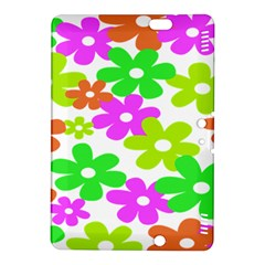 Flowers Floral Sunflower Rainbow Color Pink Orange Green Yellow Kindle Fire Hdx 8 9  Hardshell Case by Alisyart
