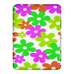 Flowers Floral Sunflower Rainbow Color Pink Orange Green Yellow Samsung Galaxy Tab 4 (10 1 ) Hardshell Case  by Alisyart