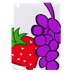 Fruit Grapes Strawberries Red Green Purple Apple Ipad 3/4 Hardshell Case (compatible With Smart Cover) by Alisyart