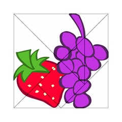 Fruit Grapes Strawberries Red Green Purple Acrylic Tangram Puzzle (6  X 6 ) by Alisyart