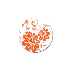 Floral Rose Orange Flower Golf Ball Marker (10 Pack) by Alisyart
