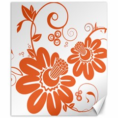 Floral Rose Orange Flower Canvas 8  X 10  by Alisyart