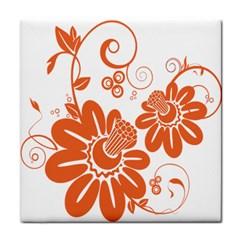 Floral Rose Orange Flower Face Towel by Alisyart