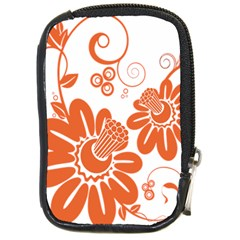 Floral Rose Orange Flower Compact Camera Cases by Alisyart