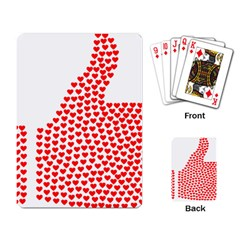 Heart Love Valentines Day Red Sign Playing Card by Alisyart