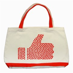 Heart Love Valentines Day Red Sign Classic Tote Bag (red) by Alisyart