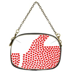Heart Love Valentines Day Red Sign Chain Purses (two Sides)  by Alisyart